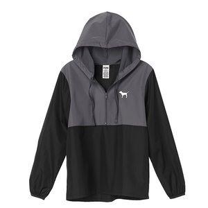 PINK Anorak Windbreaker Jacket Quarter-Zip